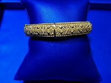 22k Gold Bangle open able Hand Crafted with high Diamond cut Polish