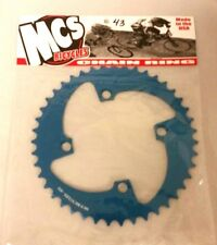 MCS 104 4 BOLT CHAINRING GEAR BMX 43T BLUE MADE IN THE USA