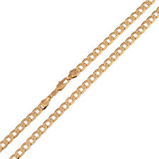 HOT Sale men's  24K Yellow Gold Plated Curb Chain Necklace