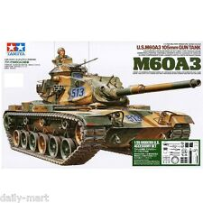 Tamiya 1/35 35140 U.S M60A3 105mm Gun Battle Tank Model Kit