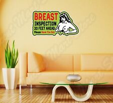 "Breast Inspection Tits Boops Funny Wall Sticker Room Interior Decor 25""X20"""
