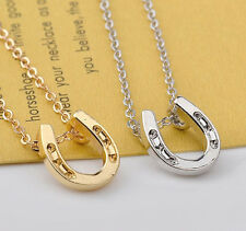 HORSE & WESTERN JEWELLERY JEWELRY GIFTS LUCKY HORSESHOE NECKLACE SILVER
