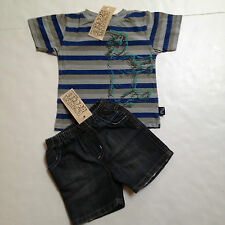 Charlie Rocket Boutique Brand Boys Short Set Size 12-18mo~Rhinoceros~New Tags