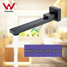 Black 259MM Square Swivel Bath Waterfall SPA Spout For Shower/ Bathroom Vanity