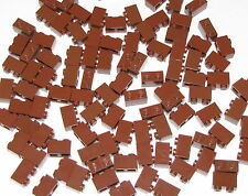 Lego Lot of 100 New Reddish Brown Bricks 1 x 2 Building Blocks
