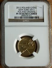 Poland  2012 UEFA - Gold Proof Coin NGC PF70 ULTRA CAMEO