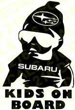 KIDS ON BOARD Car Truck Window Vinyl Decal Sticker SUBARU