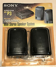 Vintage Sony SRS-P3 Mini Stereo Speaker System Walkman Sealed FREE SHIPPING