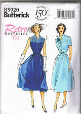 Easy Vintage 50s Retro Sheer Lace Dress Slip Belt Sewing Pattern Sz 6 8 10 12 14