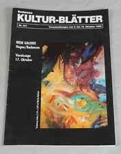 Buch Bodensee Kultur-Blätter / Veranstaltungskalender vom Oktober 1992   /S225