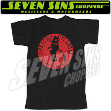 PSYCHO CYCLES AXEMAN TEE CHOPPER HARLEY STEG INDIAN LARRY MOTORCYCLE LRG RED