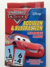 Disney Pixar The World Of Cars Addition And Subtraction Learning Cards Math New