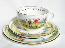 Royal Worcester VIP Hole In One Cup & Saucer & Plate Very Important Person Golf