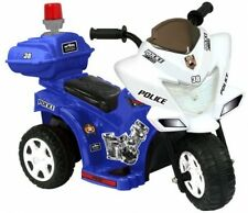 Lil Patrol 6V, Blue and White Kids Motor cycle Motorcycle bike Cycle
