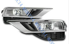 A Set FOG LIGHTS LIGHT LAMPS Driving cover & GRILLES For HONDA CRV 2015-2016