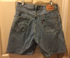 AUTHENTIC LEVI'S 550 RELAXED FIT RED TAB  Denim Jean Shorts Mens 34 W