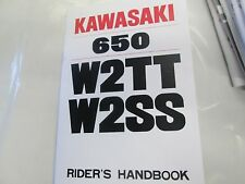 Kawasaki W2SS W2TT  owners manual