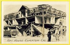 Post Card APT. HOUSE COMPTON CALIFORNIE Tornade Cyclone HÔTEL détruit Militaire