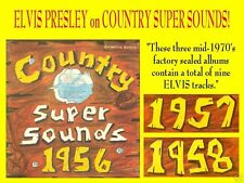 ELVIS PRESLEY and the EVERLY BROTHERS on COUNTRY SUPER SOUNDS - 3 Sealed LPs