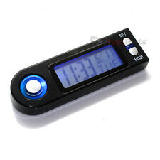 Universal Blue LED Lighted Digital Clock/Calendar for Motorcycle-Bike-Scooter