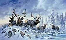 "Larry Fanning ""Solstice Rendezvous - Elk"" ARTIST PROOF Limited Edition Size: 76"