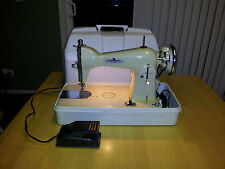 Vintage Universal Precision Sewing Machine Duluxe w/pedal and manual~Watch Video