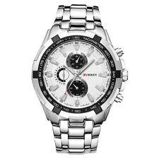 Curren Men's Luxury Military Stainless Steel Quartz Analog Sports Wrist Watch