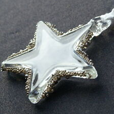 Snow Glass Star Christmas Decoration + Free Personalised Engraving (optional)