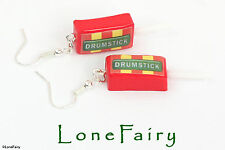 Polymer Clay Drumstick Lolly Earrings Sweetie Retro food Jewellery