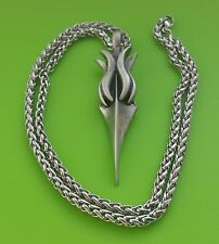 Viking Gungnir, God Odin's Spear  Pewter Pendant Necklace on chain