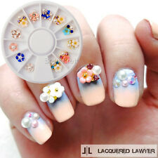 1Box Flower 3D Nail Art Studs Tips UV Gel Charms Craft Decoration Wheel DIY