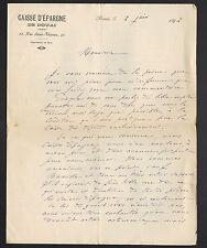 """DOUAI (59) BANQUE """"CAISSE D'EPARGNE"""" en 1892"""