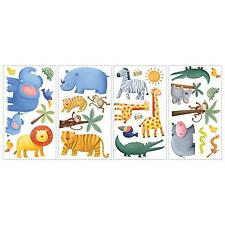 SAFARI JUNGLE animal wall stickers Rainforest 29 decal monkey elephant scrapbook