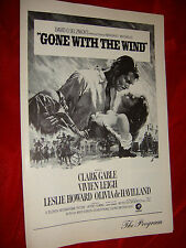 ORIGINAL GONE WITH THE WIND MOVIE THEATER PROGRAM PLAYBILL CLARK GABLE  MADE USA