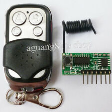 Momentary Latch Toggle 4 Chanels Super Regeneration 433MHZ Receiver & Remote Key