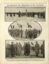 Drapeaux Aérostiers Pilotes Poilus  Bataille de Verdun General Joffre  1915 WWI