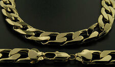Luxury Curb Chain Necklace - 24K Gold Filled- Men's - 13mm, Bling Chunky 24""