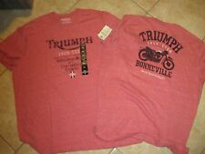 """LUCKY BRAND """"TRIUMPH MOTORCYCLES"""" VINTAGE T SHIRT (XXL) NWT $30 RED ULTRA SOFT"""