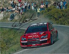 Sébastien loeb à la main signé 10x8 photo citroen rally legend.