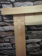 Wooden Clover Leaf Engraved Fire Surround Solid Pine Bespoke Hand made