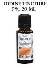 Iodine Tincture /  Solution 5 % 20ml Antiseptic for wounds cuts and abrasions