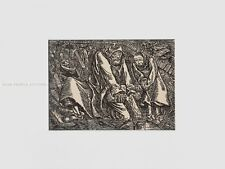 ERNST BARLACH - MEN IN GRAVES * RARE PRINT * with passe-partout