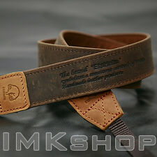 NEW MATIN Vintage-30 BROWN DSLR SLR Camera Shoulder Leather Strap for Canon Sony