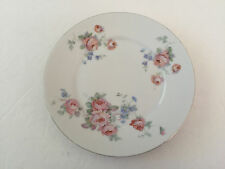 """Germany China GMY211 Roman V, Blue Flowers & Roses, Gold Trim - 6"""" BREAD PLATE"""