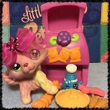 Littlest Pet Shop #1723 Mauve Purple & Cream Collie Puppy Dog SHOPKINS