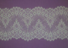 3Meters Off White French Style Chantilly Eyelash Double Edge Lace Trim Wide 23cm