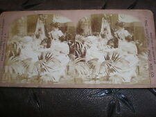 Old Stereoview photograph The latest bit of gossip by Graves Philadelphia c1890s