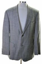 Hugo Boss Da Uomo Blazer Taglia 40 Medium Grey CHECK Virgin Lana biancheria nylon