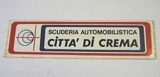 VECCHIO ADESIVO / Old Sticker RALLY SCUDERIA CITTA' DI CREMA (cm 16 x 4)