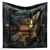 Stunning Witching Hour Black Cat Altar Cloth / Wall Hanging ~ Lisa Parker  Wicca